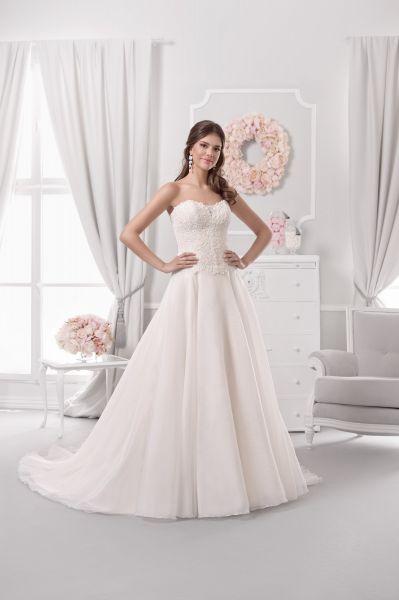 Brautkleid Alanis mit Spitze (elfenbeinfarben)