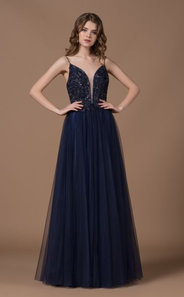 Abendkleid Nadina (dunkelblau)
