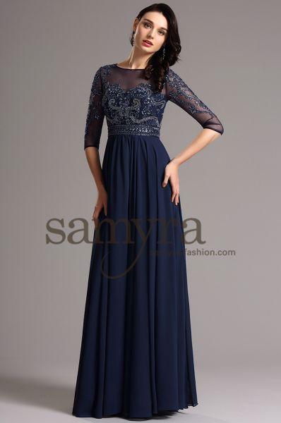 Abendkleid Amicella aus Chiffon (nachtblau)