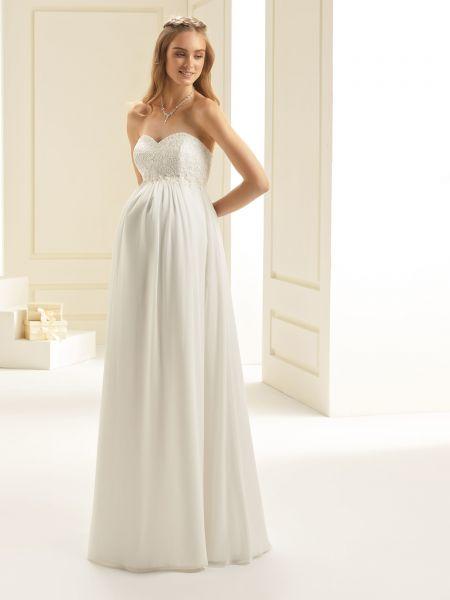 Brautkleid Lidia für Schwangere (elfenbeinfarben)
