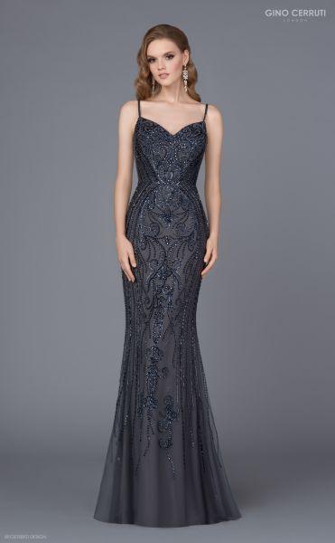 Abendkleid Chloe (anthrazit)