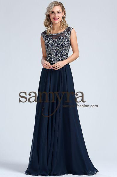 Abendkleid Franka (dunkelblau)