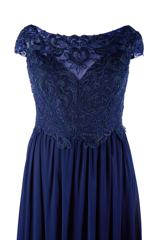 Abendkleid dunkelblau für grosse Grössen | Samyra Fashion