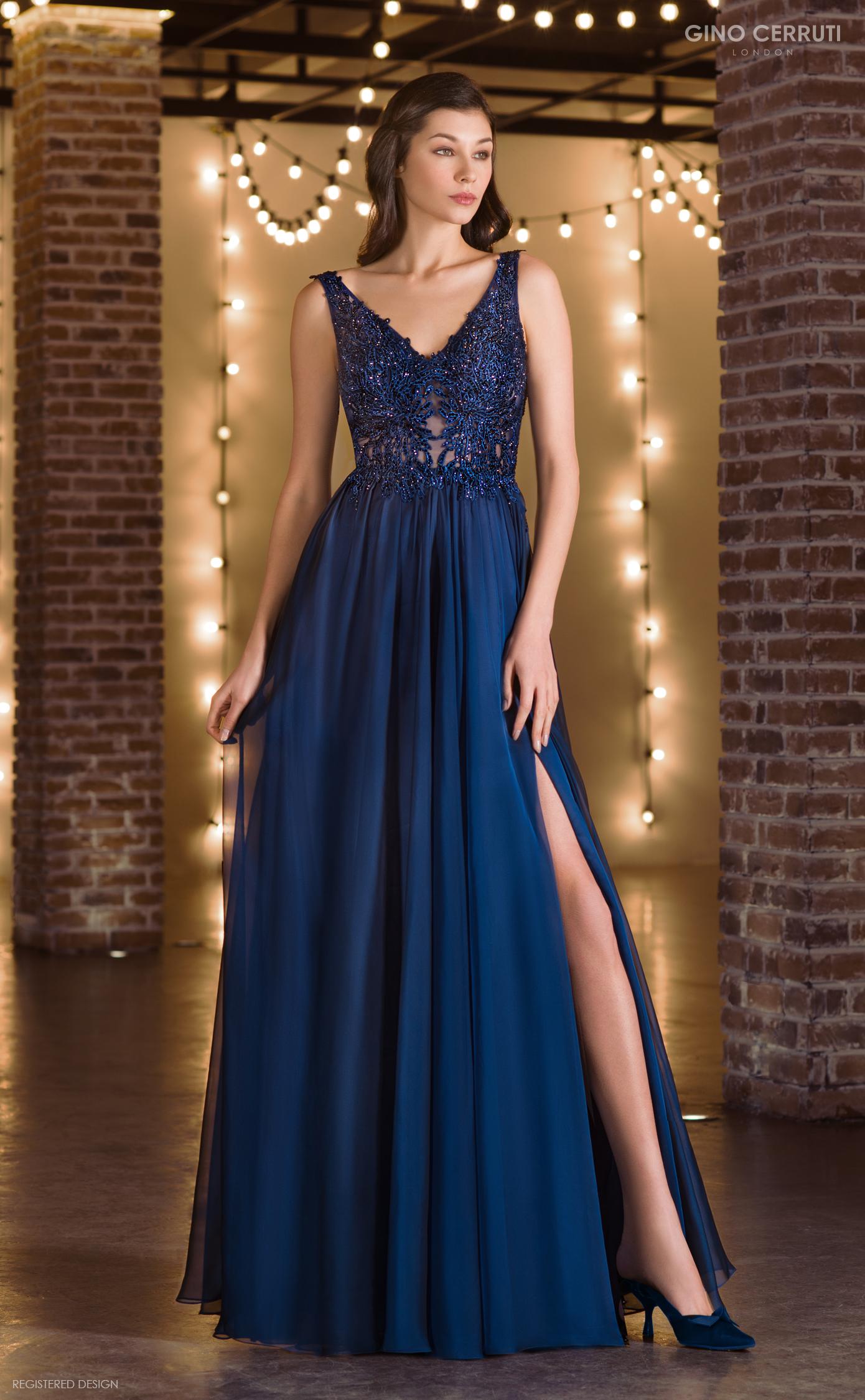 Abendkleid Odina (dunkelblau)