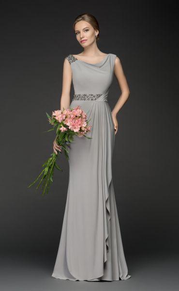 Abendkleid Gleda (grau)