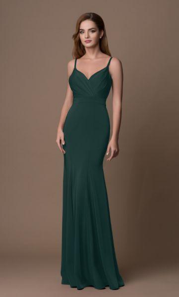 Abendkleid Emma (dunkelgrün)