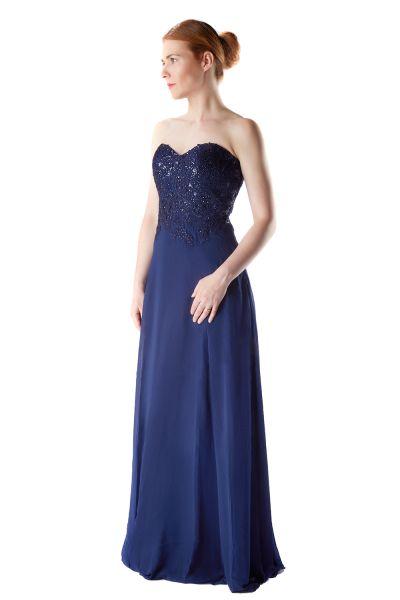 Abendkleid Sina (dunkelblau)