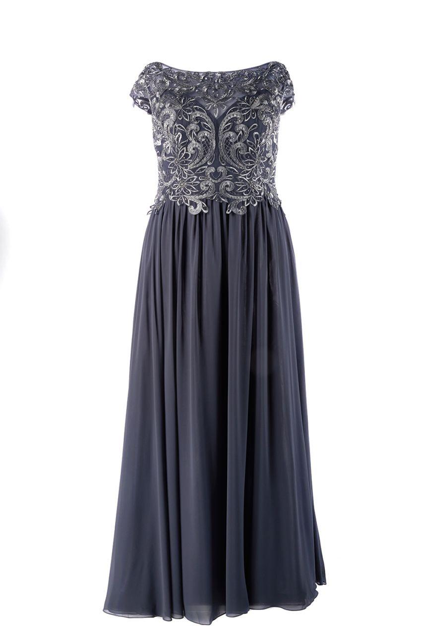 abendkleid anthrazit für grosse grössen | samyra fashion