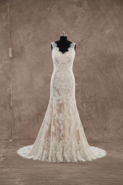 Brautkleid Adele (elfenbeinfarben, champagnerfarben)
