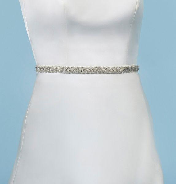 Brautgürtel aus Strasssteinen von Poirier (elfenbeinfarben)