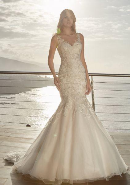 Brautkleid Darina (Ivory-Pink, elfenbeinfarben)