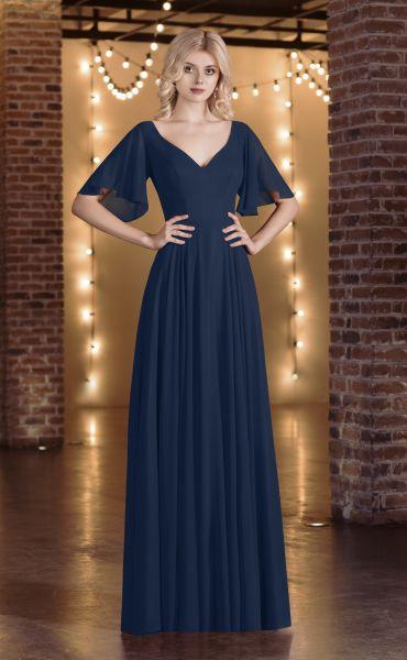 Abendkleid Petra (nachtblau)