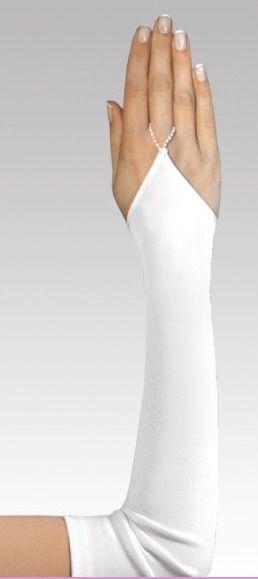 Handschuh 45 cm lang (elfenbeinfarben)