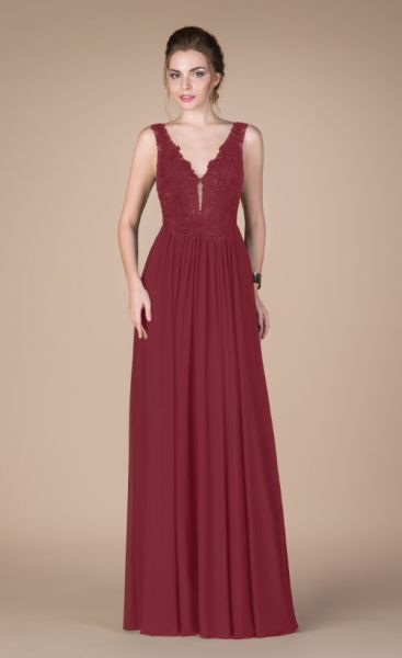 Abendkleid Naela (bordaux)