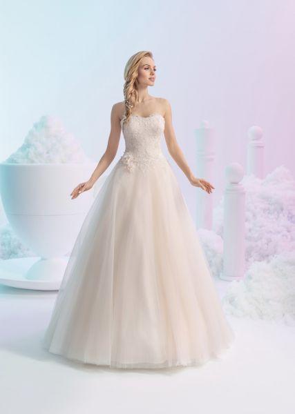 Brautkleid Eden mit Herzausschnitt (rose/ivory, ivory)