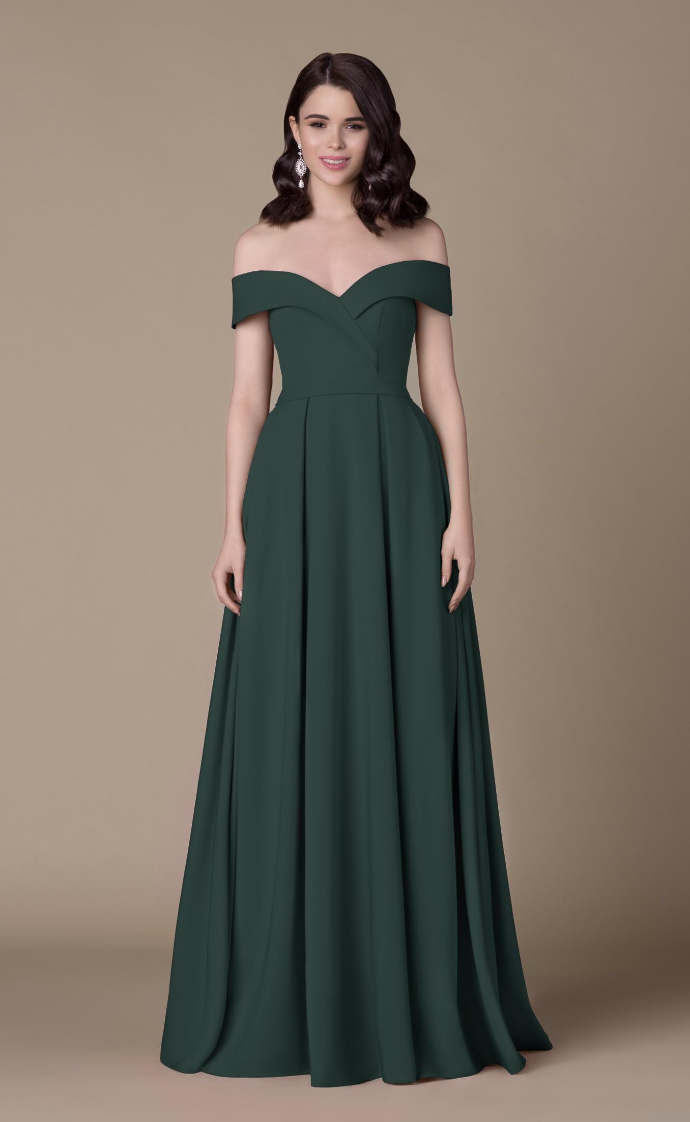 Abendkleid Valeska (dunkelgrün)