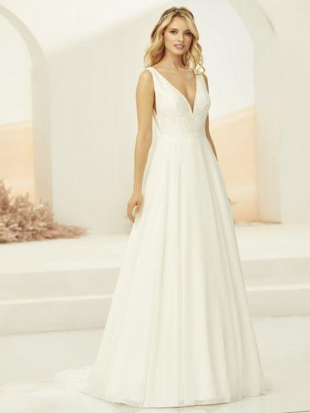 Hochzeitskleid Elodia (elfenbeinfarben)
