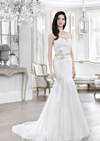 Brautkleid Azra Gr.40 aus Soft-Tüll (elfenbeinfarben)