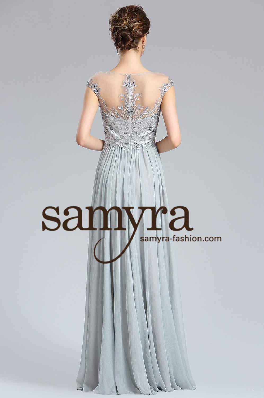 Romantisches Abendkleid grau | Samyra Fashion