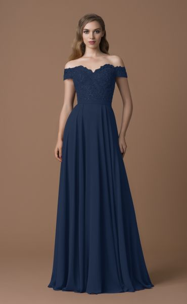Abendkleid Caro (dunkelblau)