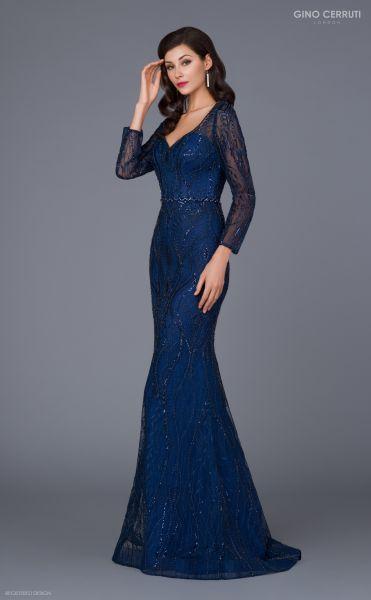 Abendkleid Marion (dunkelblau)