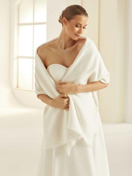 Brautschal für kalte Tage (elfenbeinfarbig)