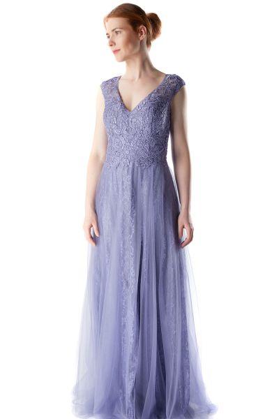 Abendkleid Mara (taubenblau)