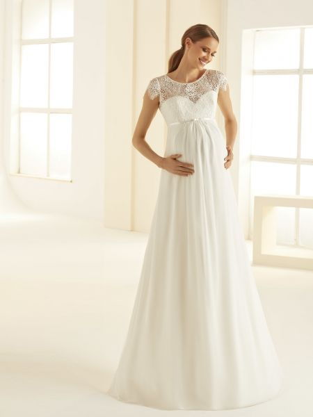 Hochzeitskleid Bernadette (elfenbeinfarben)
