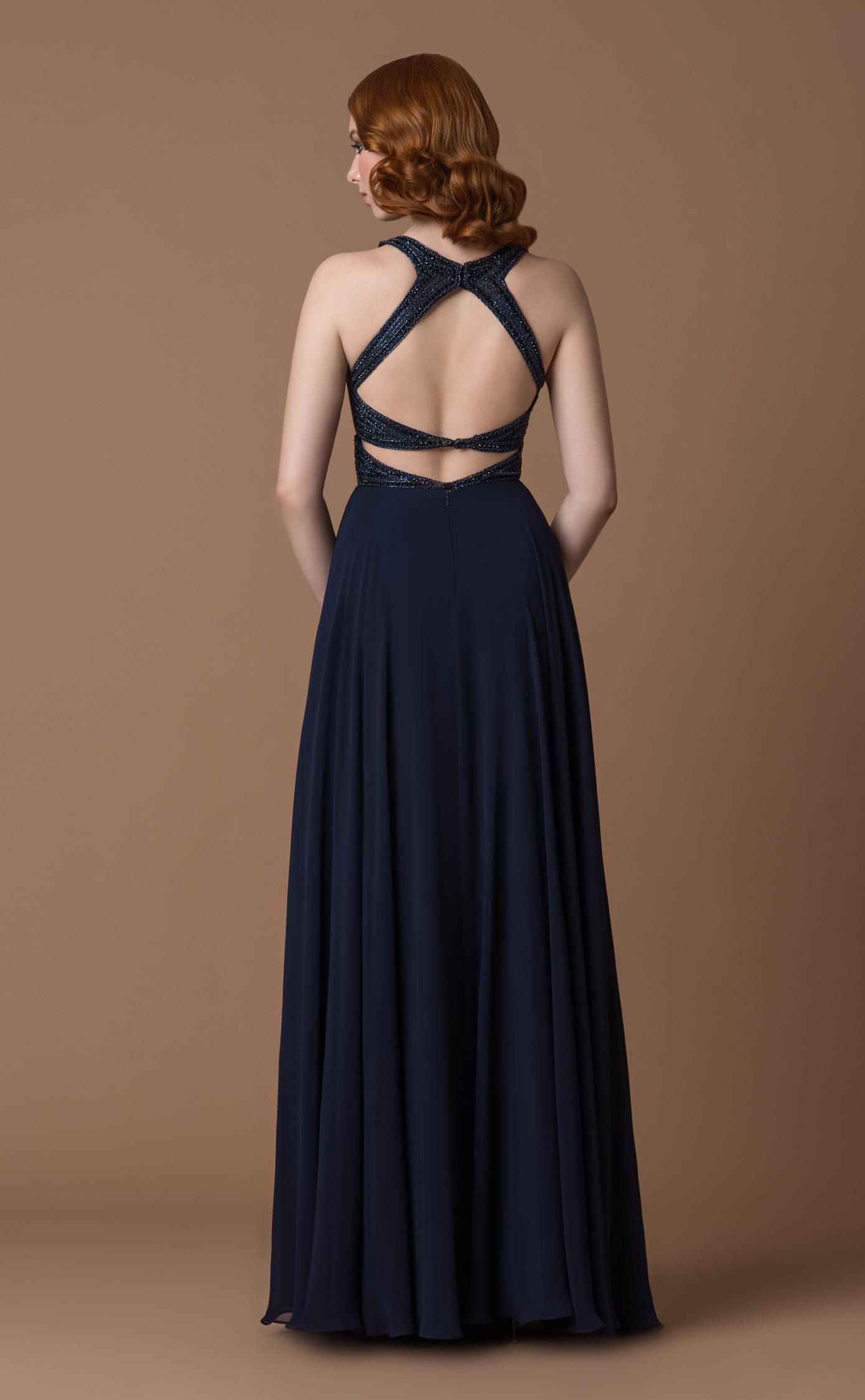 Abendkleid/Ballkleid mit offenem Rücken | Samyra Fashion