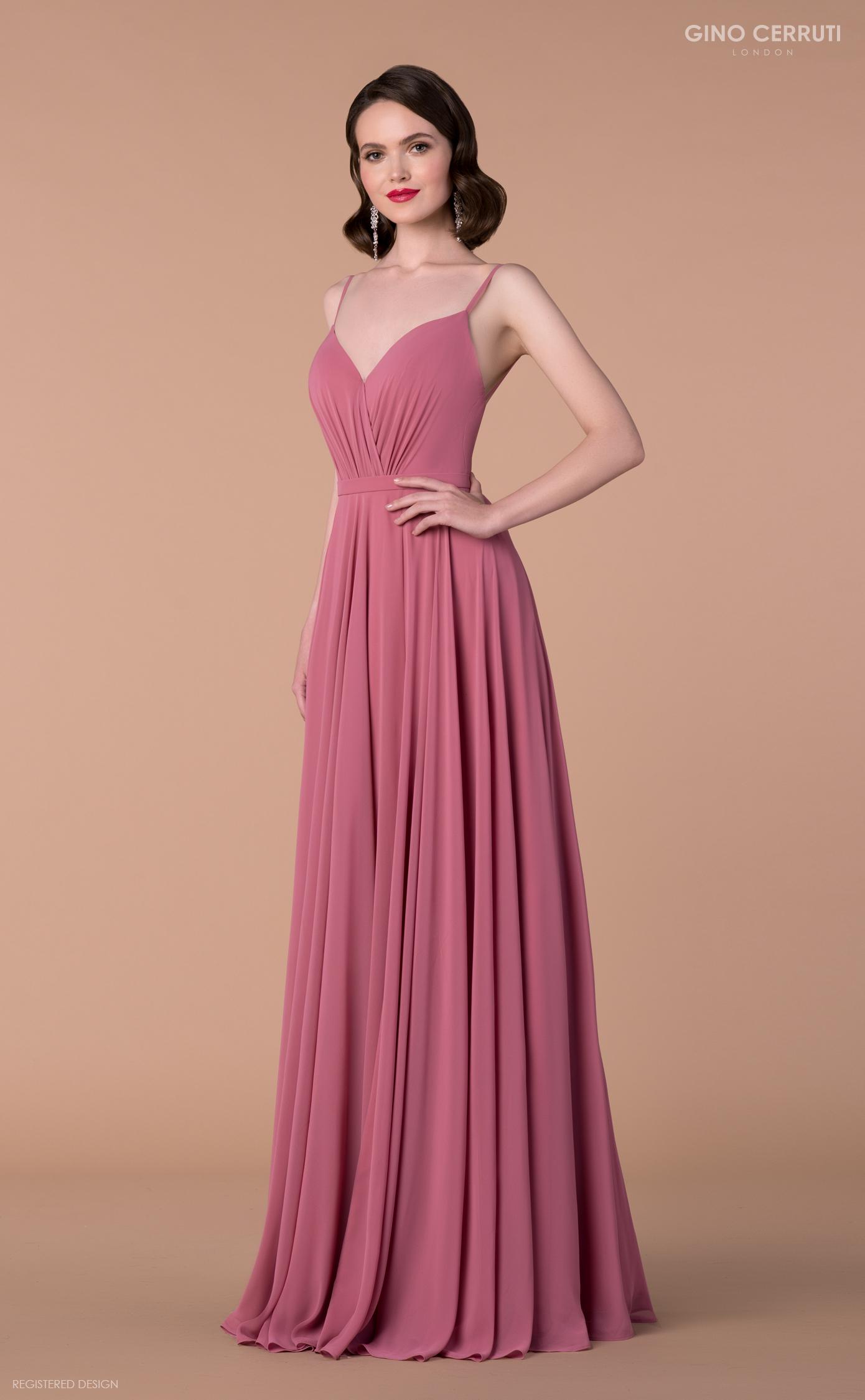 Abendkleid altrosa mit Trägern | Samyra Fashion