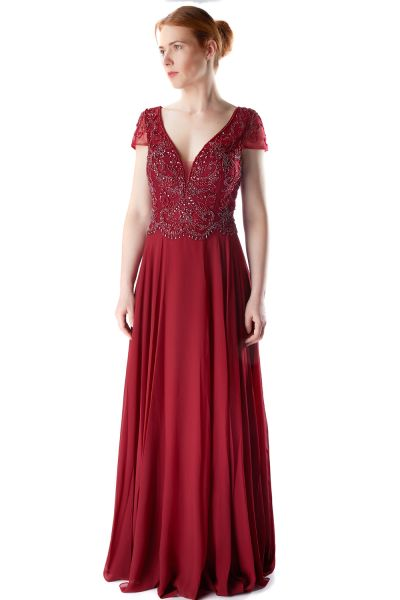 Abendkleid Lina (bordeaux)