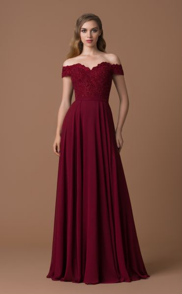 Abendkleid Caro (bordeaux)