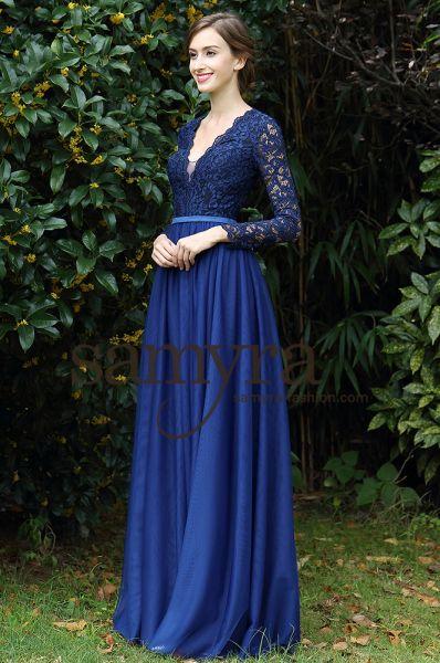 Abendkleid Lilly (dunkelblau)