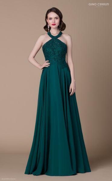 Abendkleid Oksana (dunkelgrün)