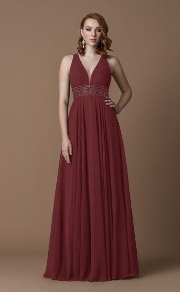 Abendkleid Anastasia (bordeaux)