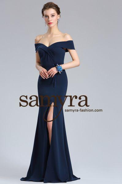 Abendkleid Claudia (blau)