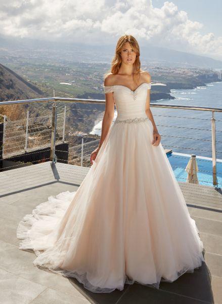 Brautkleid Daisy (ivory-Pink, elfenbeinfarben)