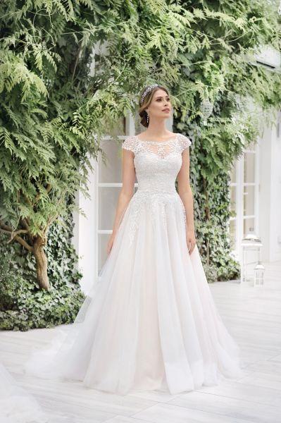 Brautkleid Lavina mit Spitzer verziert (rose/ ivory, ivory)