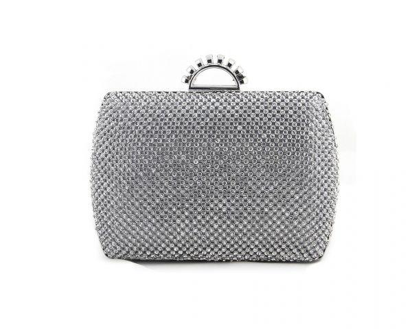 Silberfarbene Handtasche S-12733S
