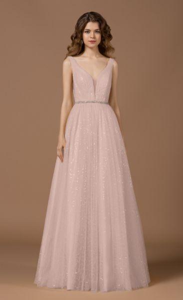 Abendkleid Pixie mit Träger (Blush Pink)