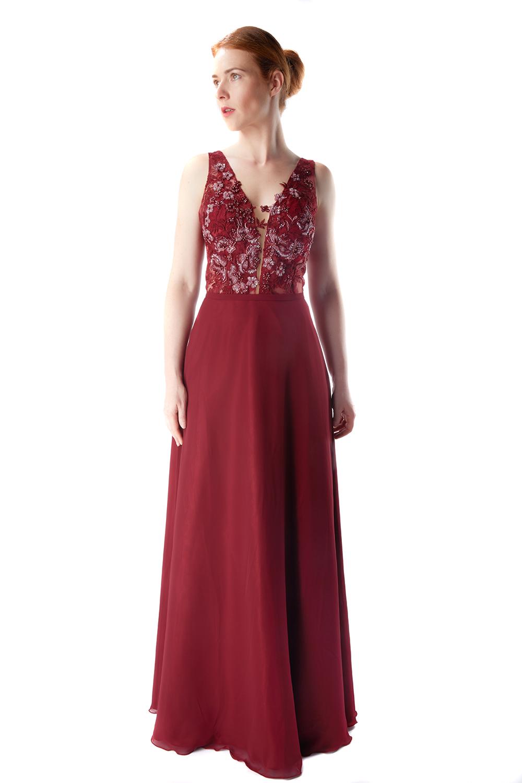 Abendkleid Mina (bordeaux)