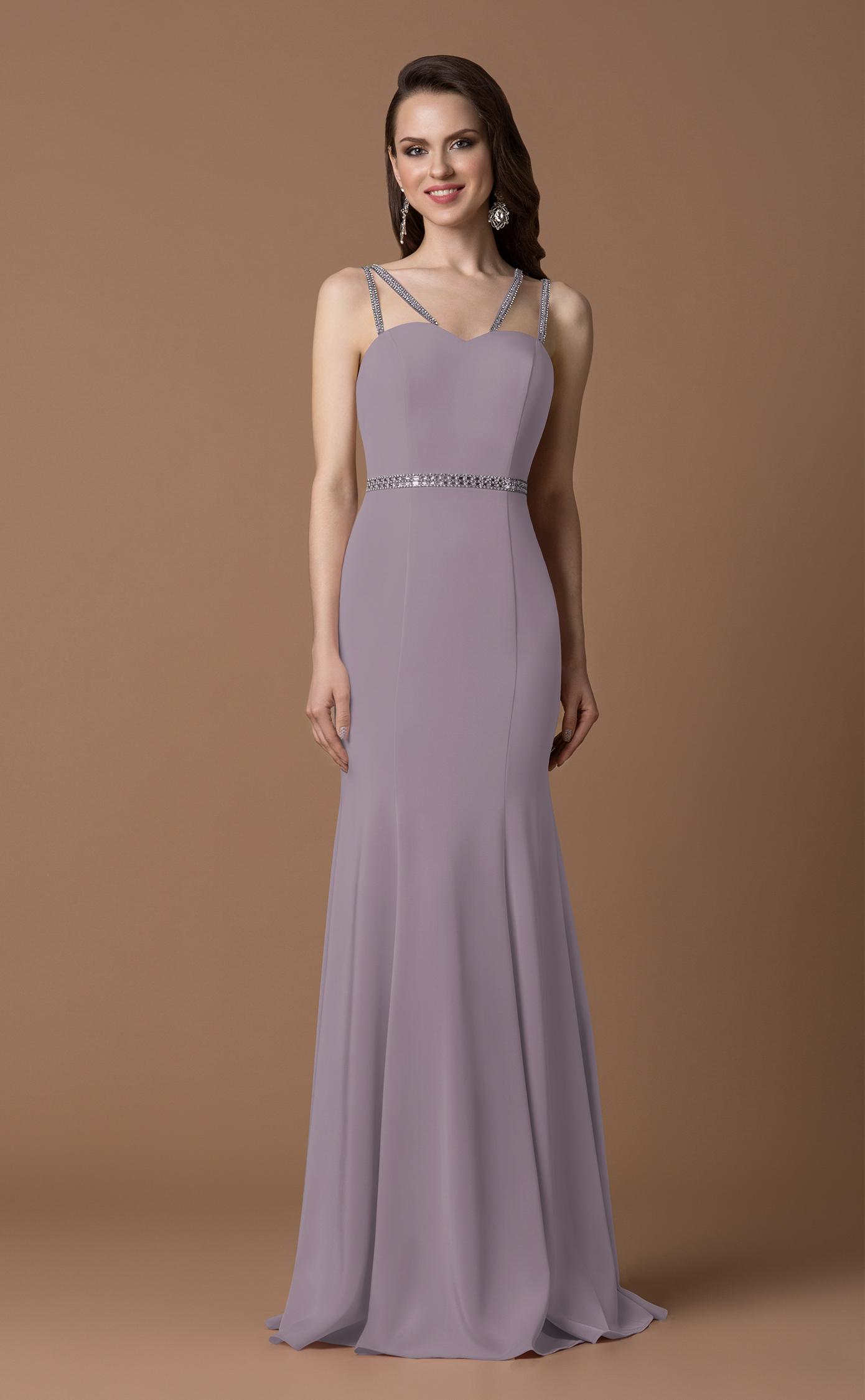 elegantes abendkleid in der farbe silberrosa  samyra fashion