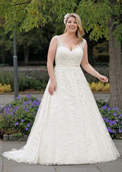 Brautkleid Pamela (champagner/ ivory, elfenbeinfarben, ivory)