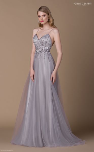 Abendkleid Genia (silberfarben)