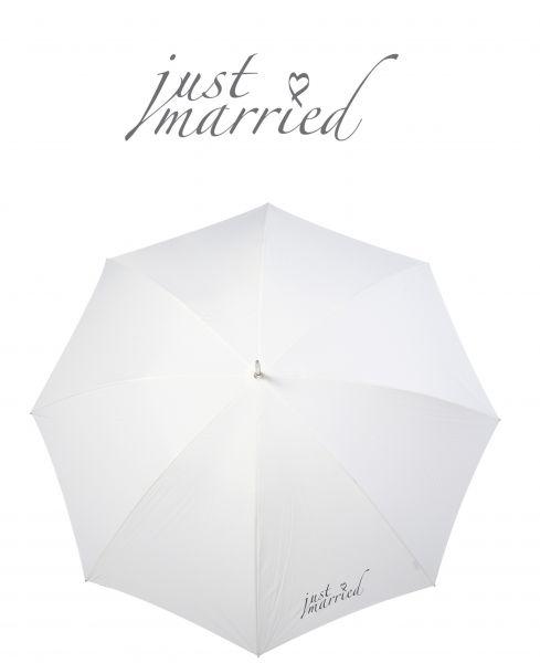 Hochzeit-Regenschirm Just Married