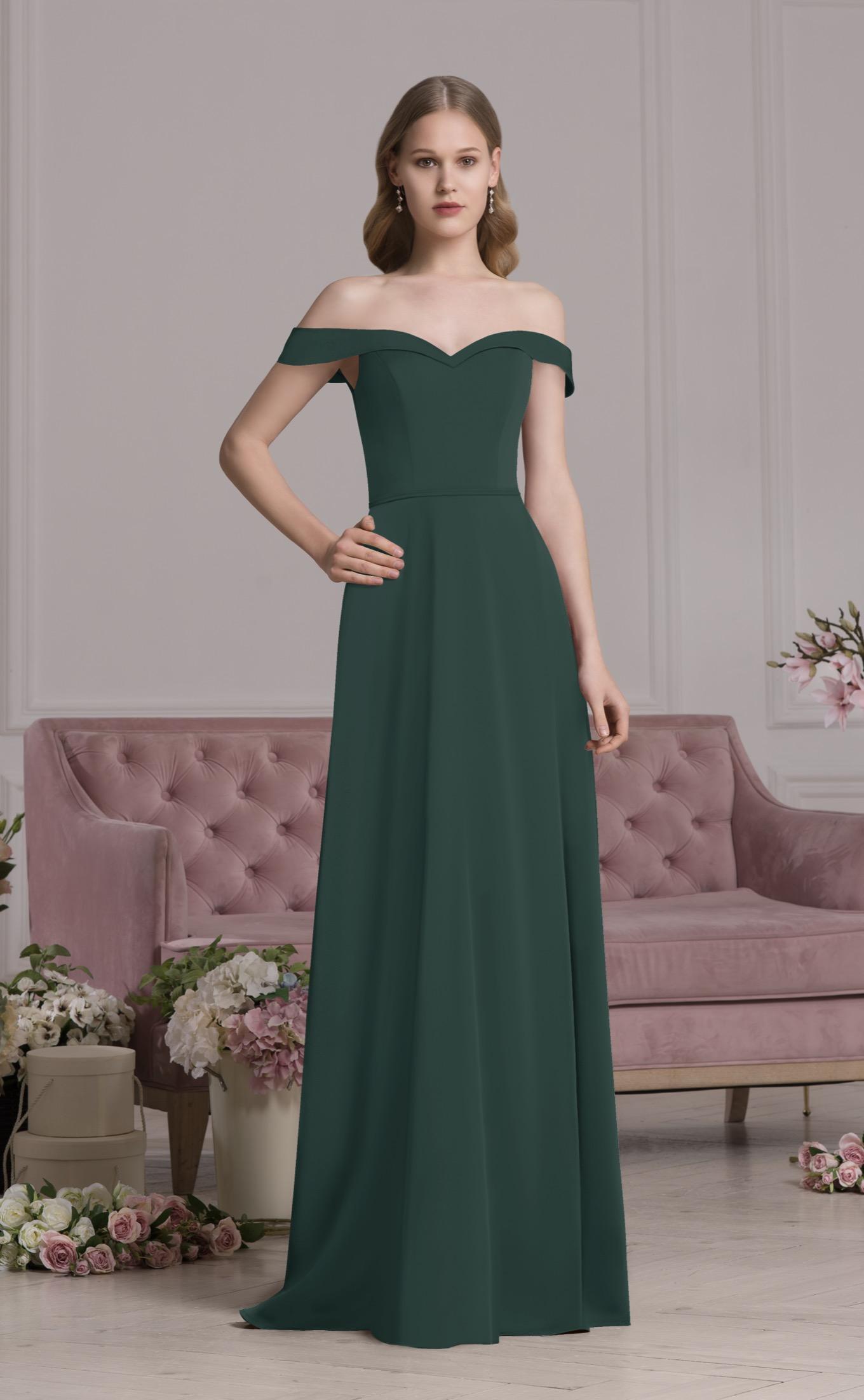 Abendkleid Valeria (dunkelgrün)