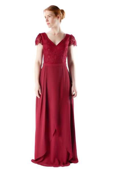 Abendkleid Clara (bordeaux)