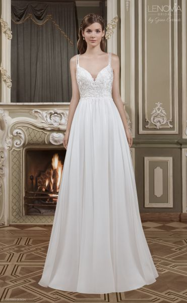 Hochzeitskleid Jule mit tiefen Rückenausschnitt (elfenbeinfarben)