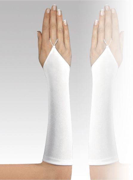 Handschuh aus mattem Satin (elfenbeinfarben)