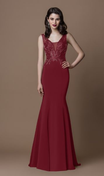 Abendkleid Gill (bordeaux)